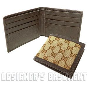 Gucci Bags - GUCCI Original GG canvas & leather bifold Wallet